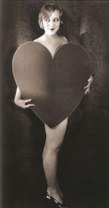 vintage valentine girl