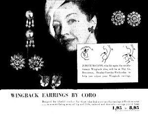 The Story of Judith McCann and Wingback Earrings
