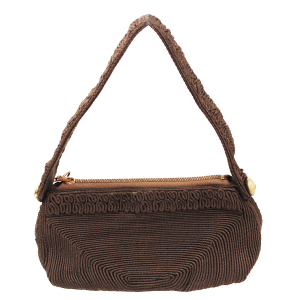 Vintage brown corde purse by Lamar