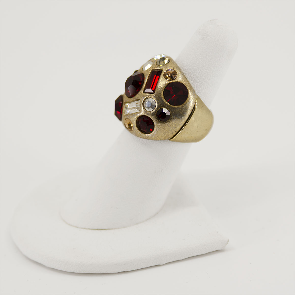 Abstract Red stone ring