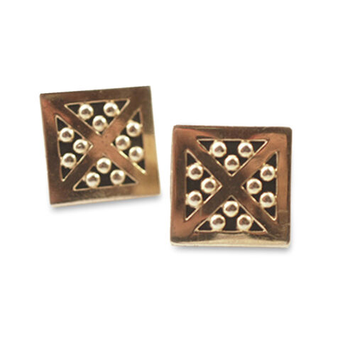 swank geometric cufflinks
