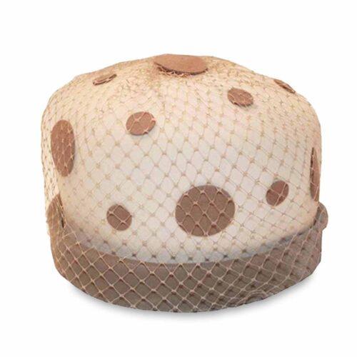 60s polka dot hat