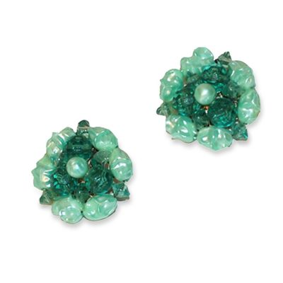 Vintage cluster bead earrings