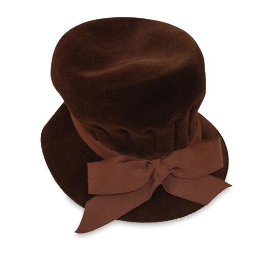 brown vintage hat