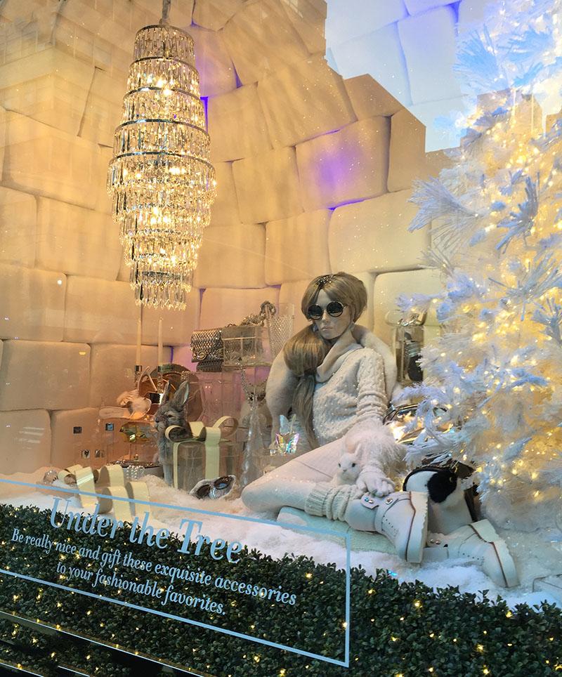 Bloomindales Christmas window 2015