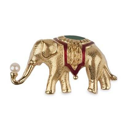 monet elephant brooch