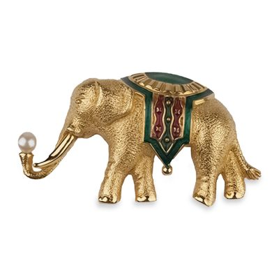 Monet Elephant pin