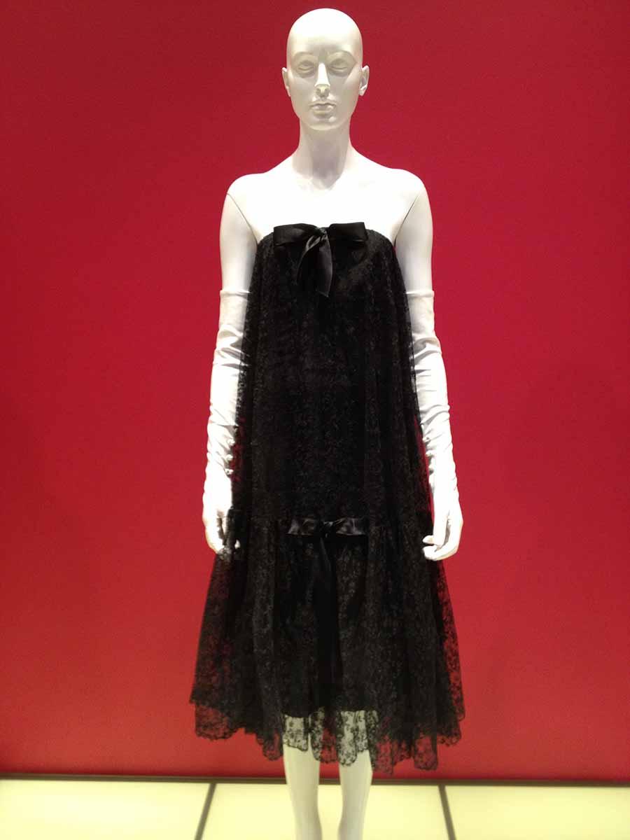 1957 Balenciaga lace cage dress