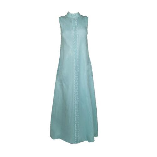 70s light blue dress