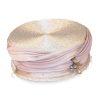 blush pink pillbox hat