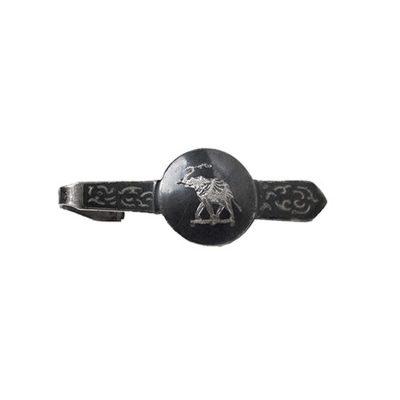 Vintage Elephant Tie Clip, Thai Siam Silver