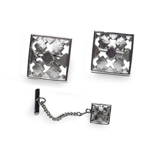 vintage silver swank cufflinks set