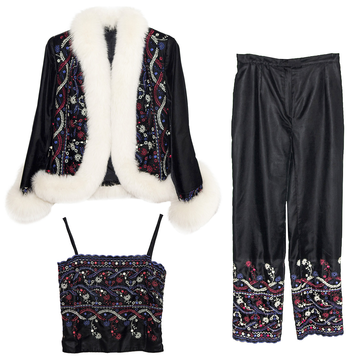 Black Apres Ski top & Pants 4