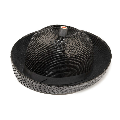 vintage black breton hat
