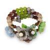 GLass flower jewelry set
