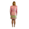 pink womens silk suit