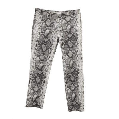 Michael Kors Snakeskin Print Skinny Jeans, Size 6