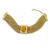 vintage monet necklace gold snake chains