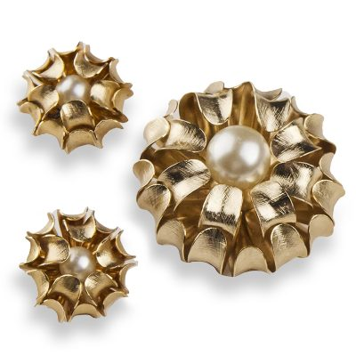 Napier earrings & brooch set