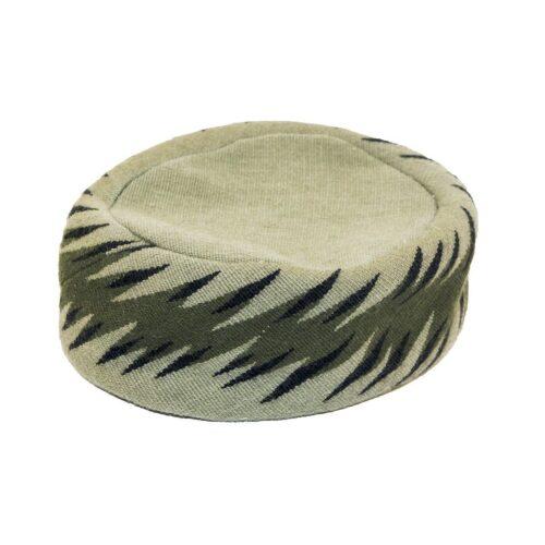Vintage Claude Saint Cyr Pill Box Hat Hat, Pinton-Aubusson Green Tapestry, Hat Size 20