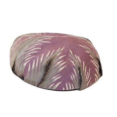 1950s Claude Saint Cyr Hat, Pinton-Aubusson Tapestry Beret, Lavender, Gray & Black, Hat Size 22