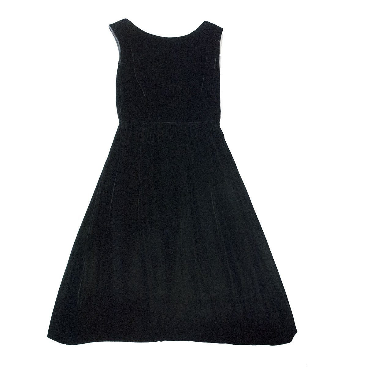 Vintage 1950s Jacques Heim Black Velvet Cocktail Dress, Extra Small