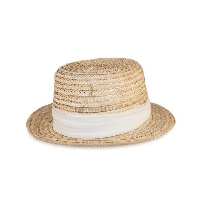Vintage 1950s Happy Cappers Straw Sun Hat, Built-in Scarf