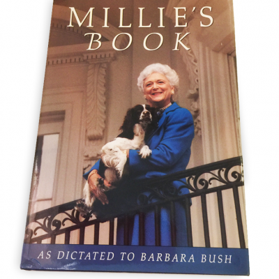 Barbara Bush and Millie