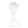 white floppy sun hat