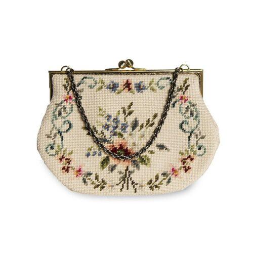 1960s Needlepoint Handbag, Floral Design