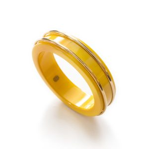 1970s yellow dior bangle bracelet