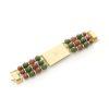 Vintage Valentino red, green gold bracelet