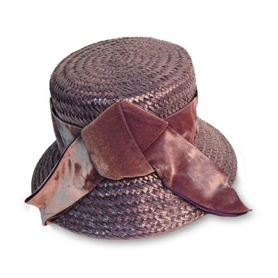 Leslie James Purple Straw hat