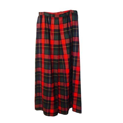 Pendleton Long Wool Skirt, Red Plaid Tartan
