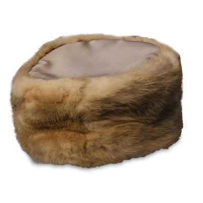 mink pillbox hat