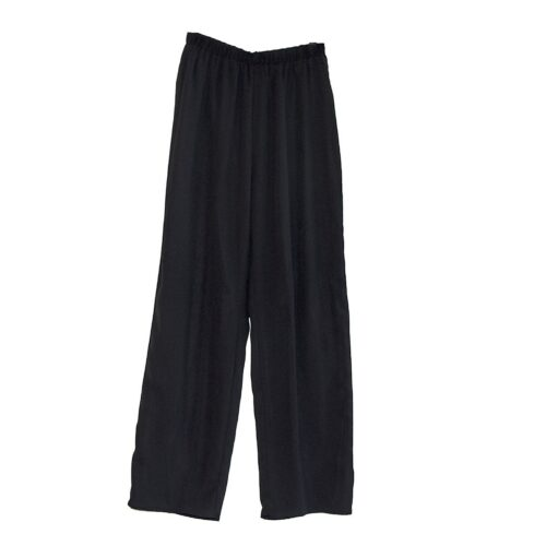 1970s Black Silk Chiffon Evening Pants by Teddi of California