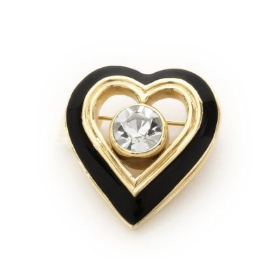 Vintage Christian Dior Heart brooch