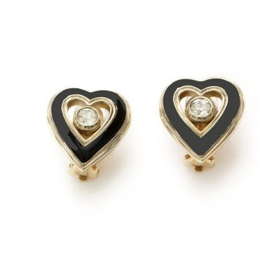 Vintage Christian Dior Heart earrings