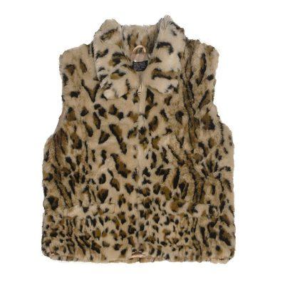 Vintage 80s Faux Leopard Vest