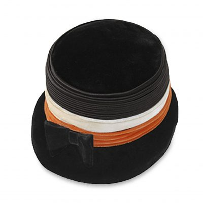 1960s Black Velvet bucket hat