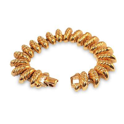 Vintage 80s AFJ San Marco Gold Link Bracelet