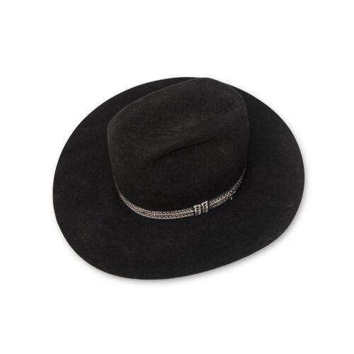Adam Hats Cowboy Hat, 5X Black Beaver Felt, Western 101 Corral, Size 7 1/8