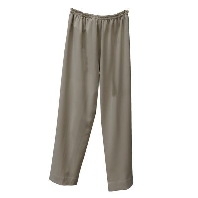Tan Straight Leg Pants, Elastic Waist, XL