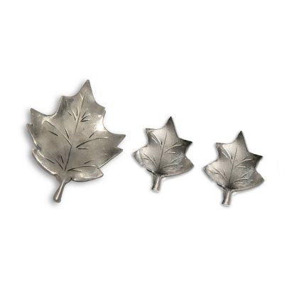 1950s Stuart Nye Sterling Silver Maple Leaf Brooch & Earrings