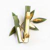 Jade Bamboo pin