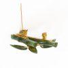 jade bamboo brooch