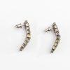 wedding jewelry crystal baguette hoop earrings