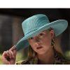 Aqua wide brim hat