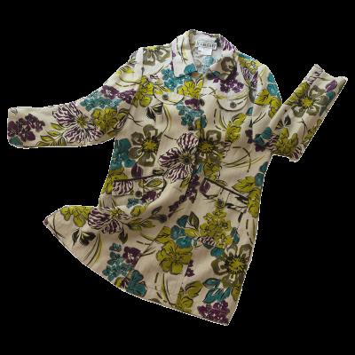 Carlisle Designer Blazer, Linen Floral Print, Size 14
