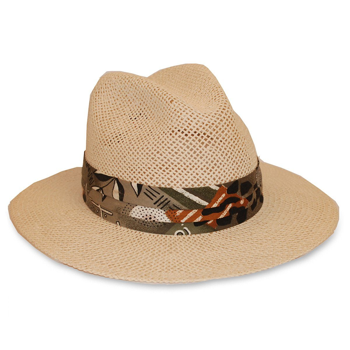Straw Wide Brim Fedora,